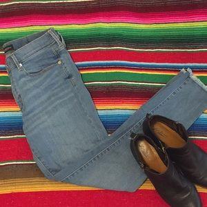 Stretch mid wash skinny jeans size 30